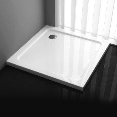 Brodzik prysznicowy kwadratowy niski SLIM 5cm - LEYDEN