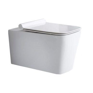 WC podwieszane Rimless z deską slim